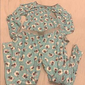 Blue Llama Pajama Set